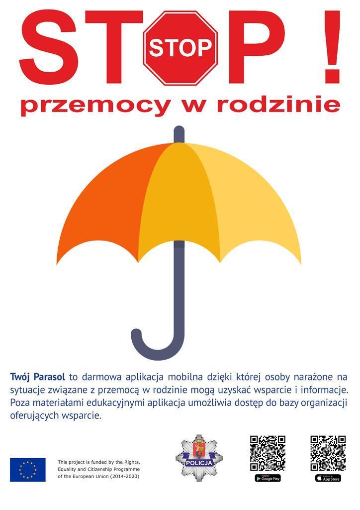 """Ilustracja do informacji: """"Twój Parasol"""" - nowe narzędzie do walki z przemocą"""