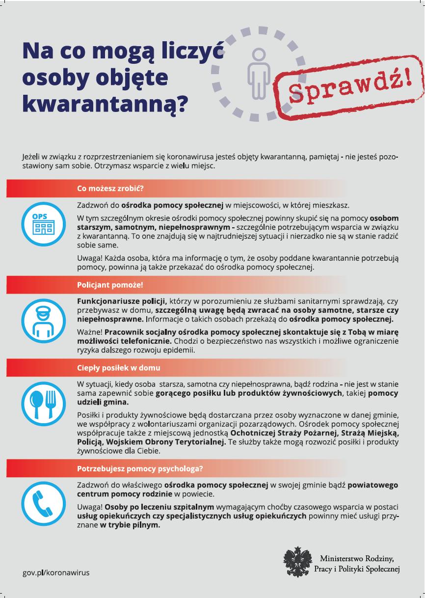 Ilustracja do informacji: Na co mogą liczyć osoby objęte kwarantanną