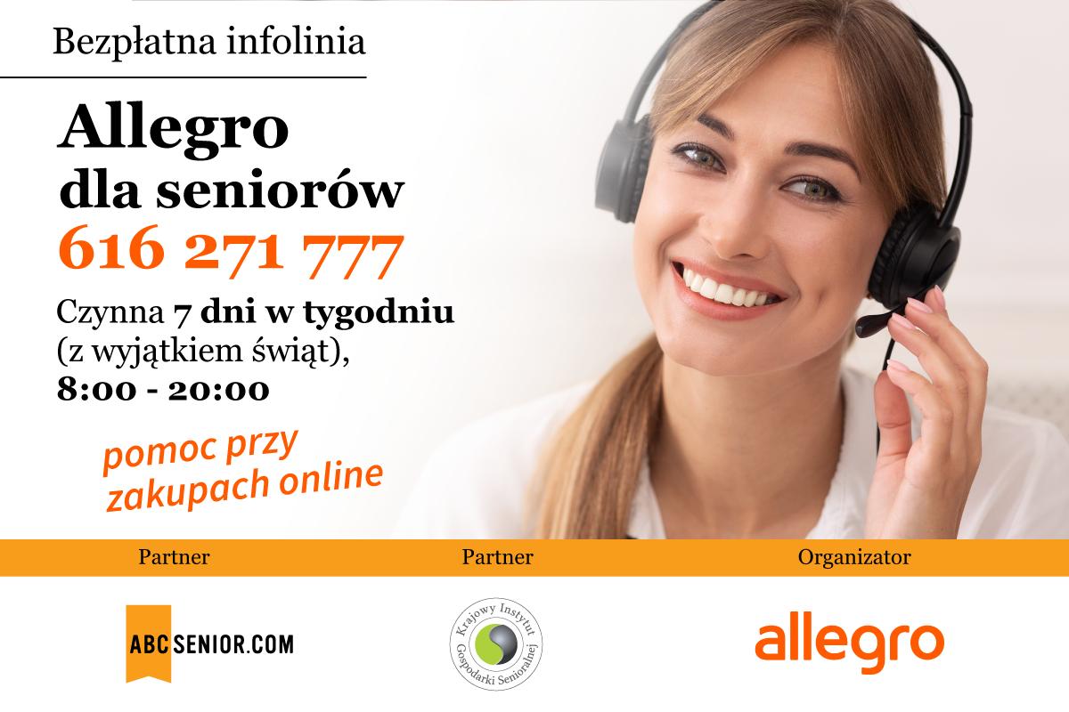 Ilustracja do informacji: Allegro dla seniorów - bezpłatna infolinia