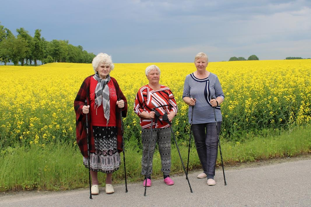 Ilustracja do informacji: Twórczy miesiąc w Klubie Seniora w Mortęgach